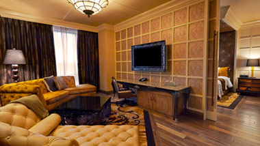 Living Room in Suite at River City Casino Hotel