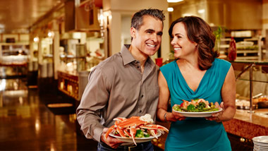 couple at The Great Food Exposition Buffet at River City Casino